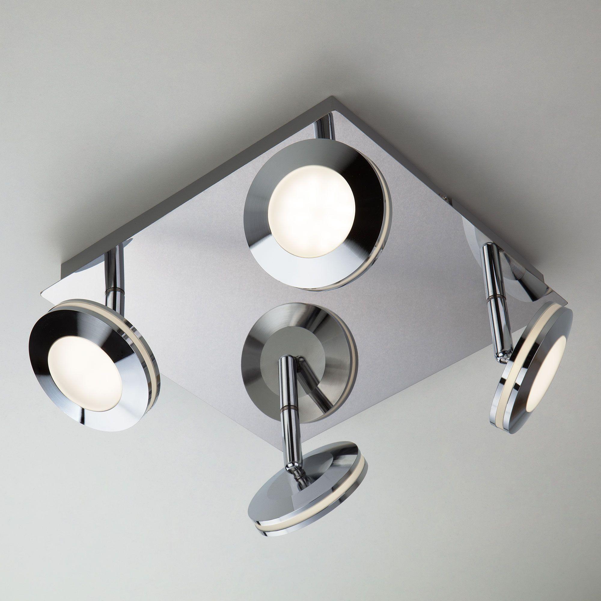 Светодиодный потолочный светильник с поворотными плафонами 20002/4 хром
