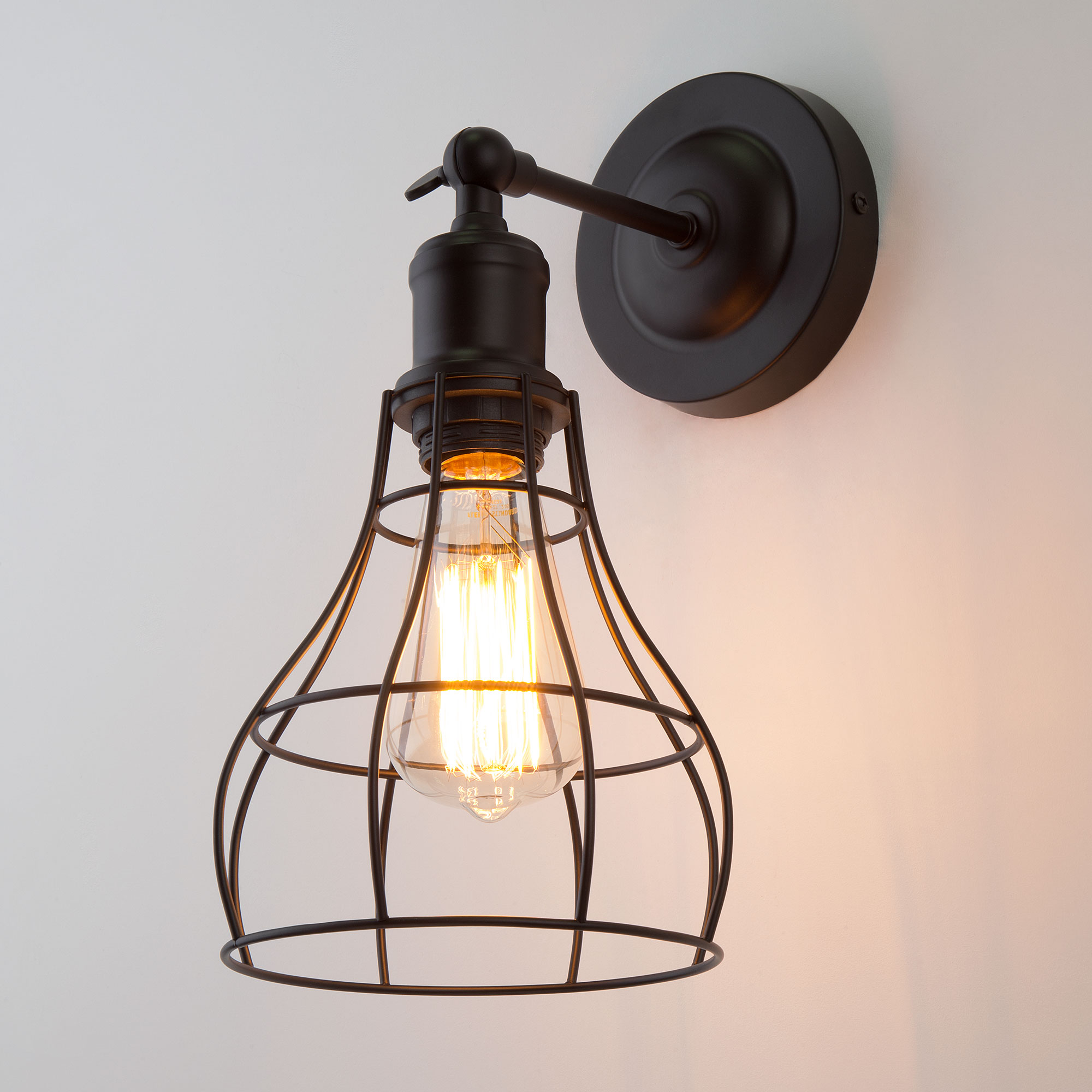 Настенный светильник в стиле лофт 50062/1 черный