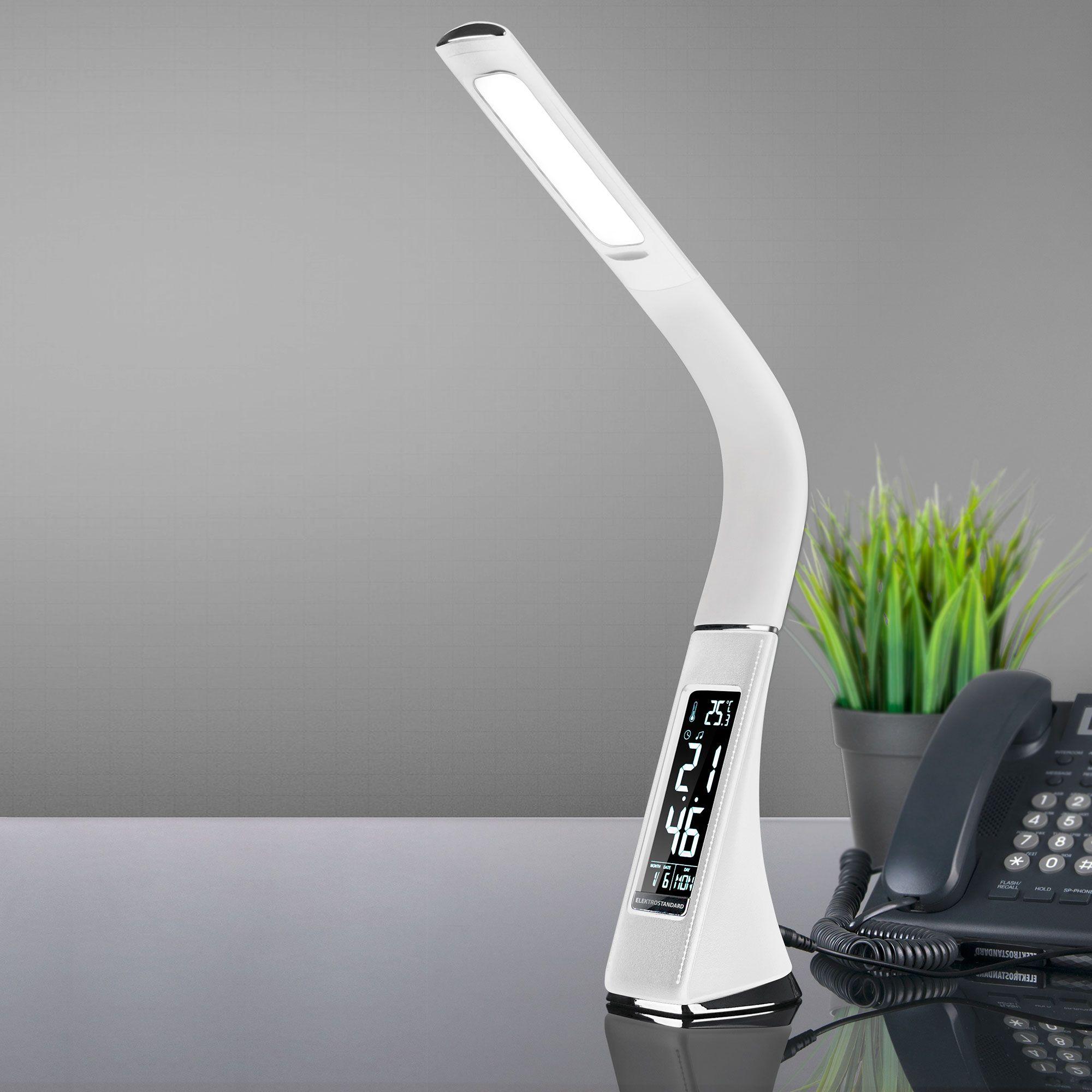 Светильник настольный с часами Elara белый (TL90220)