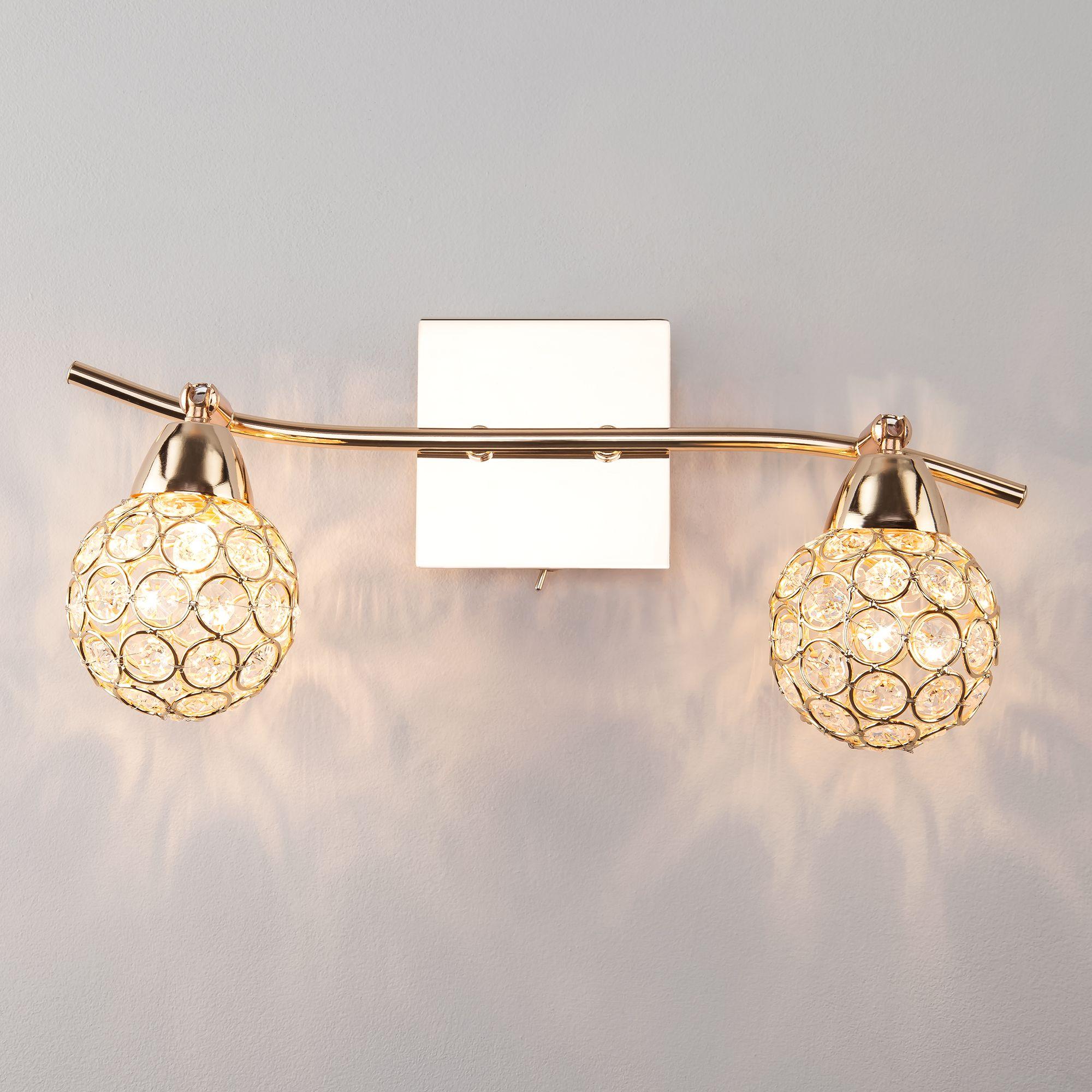 Настенный светильник с хрусталем 20042/2 золото