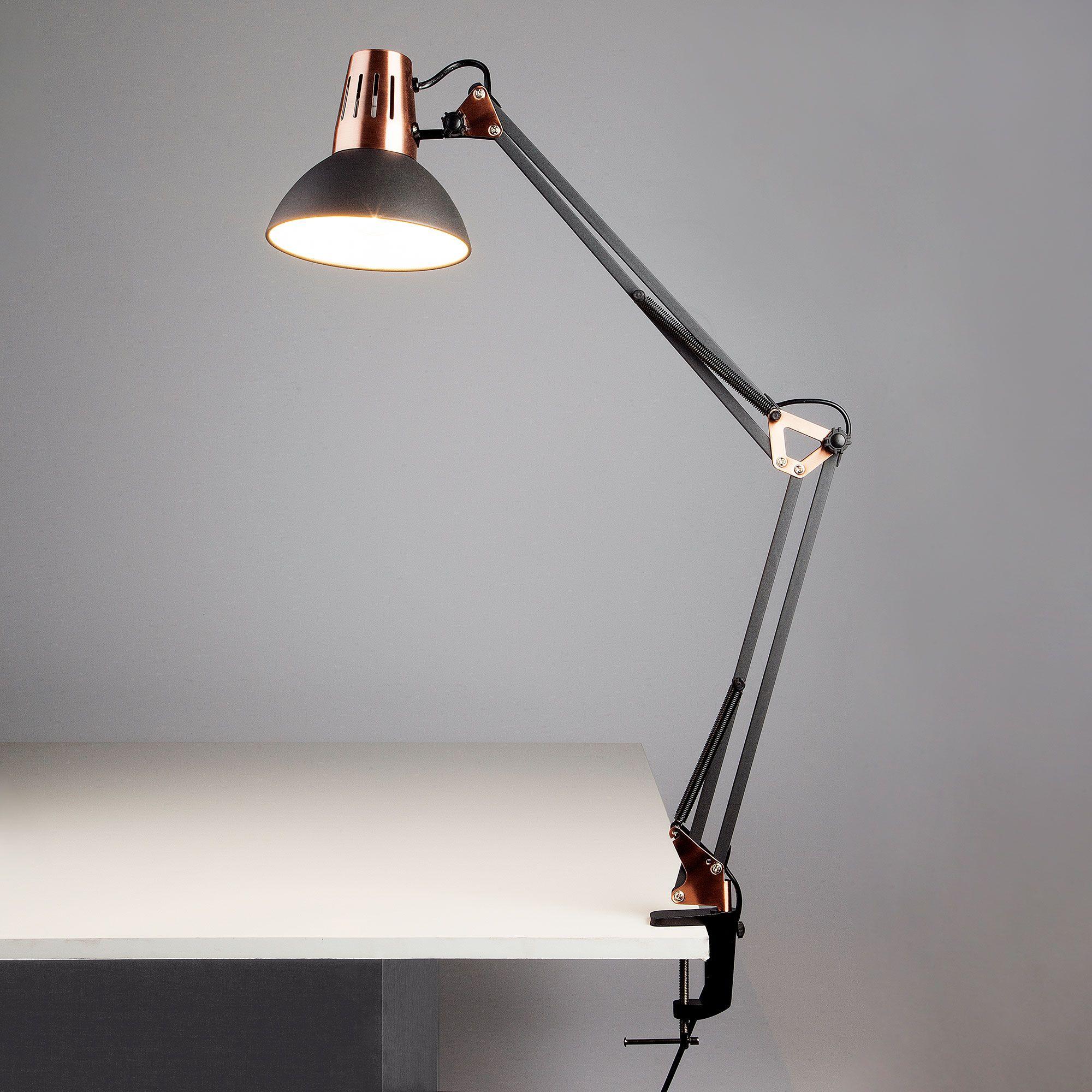 Настольная лампа на струбцине 01020/1 черный