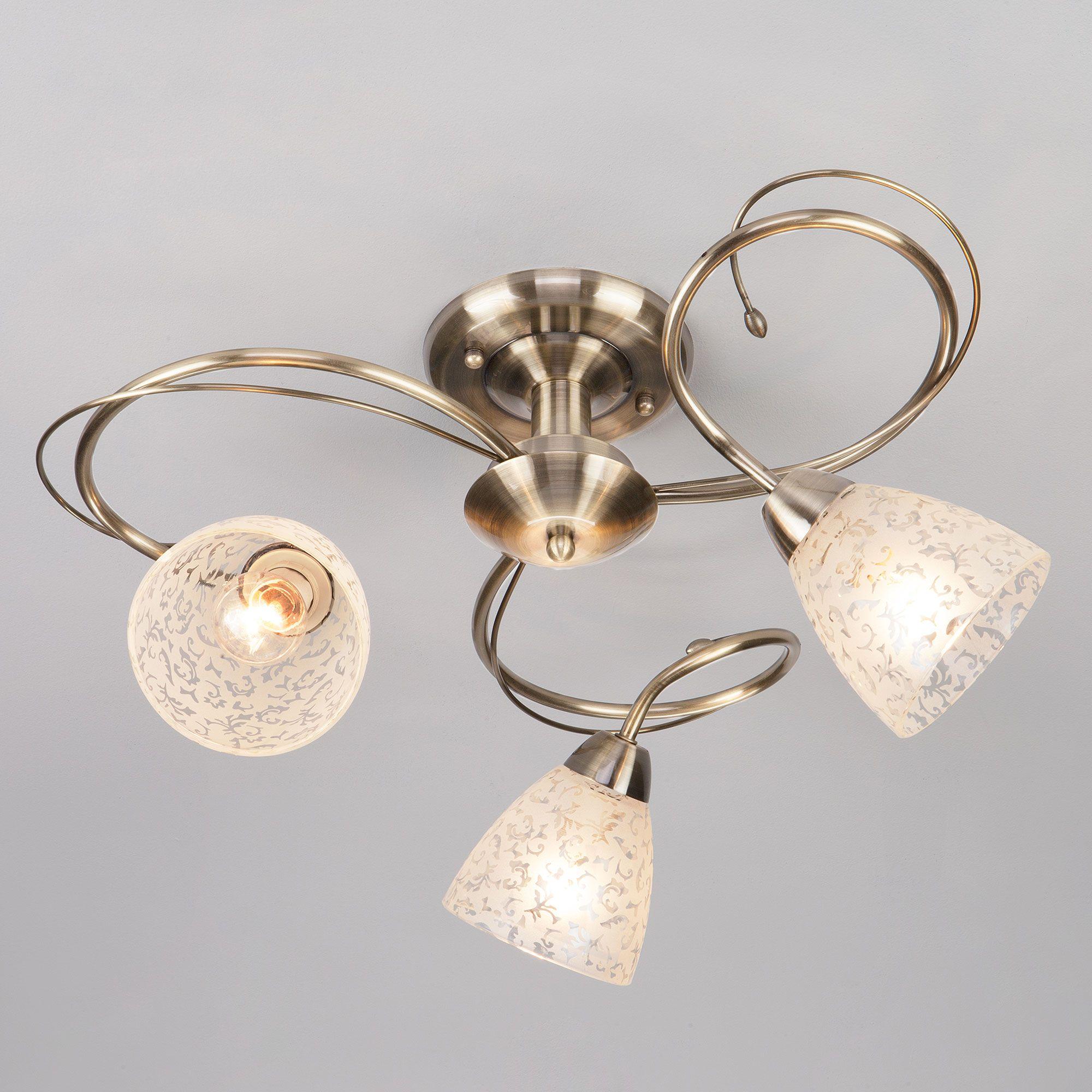 Потолочный светильник 30130/3 античная бронза