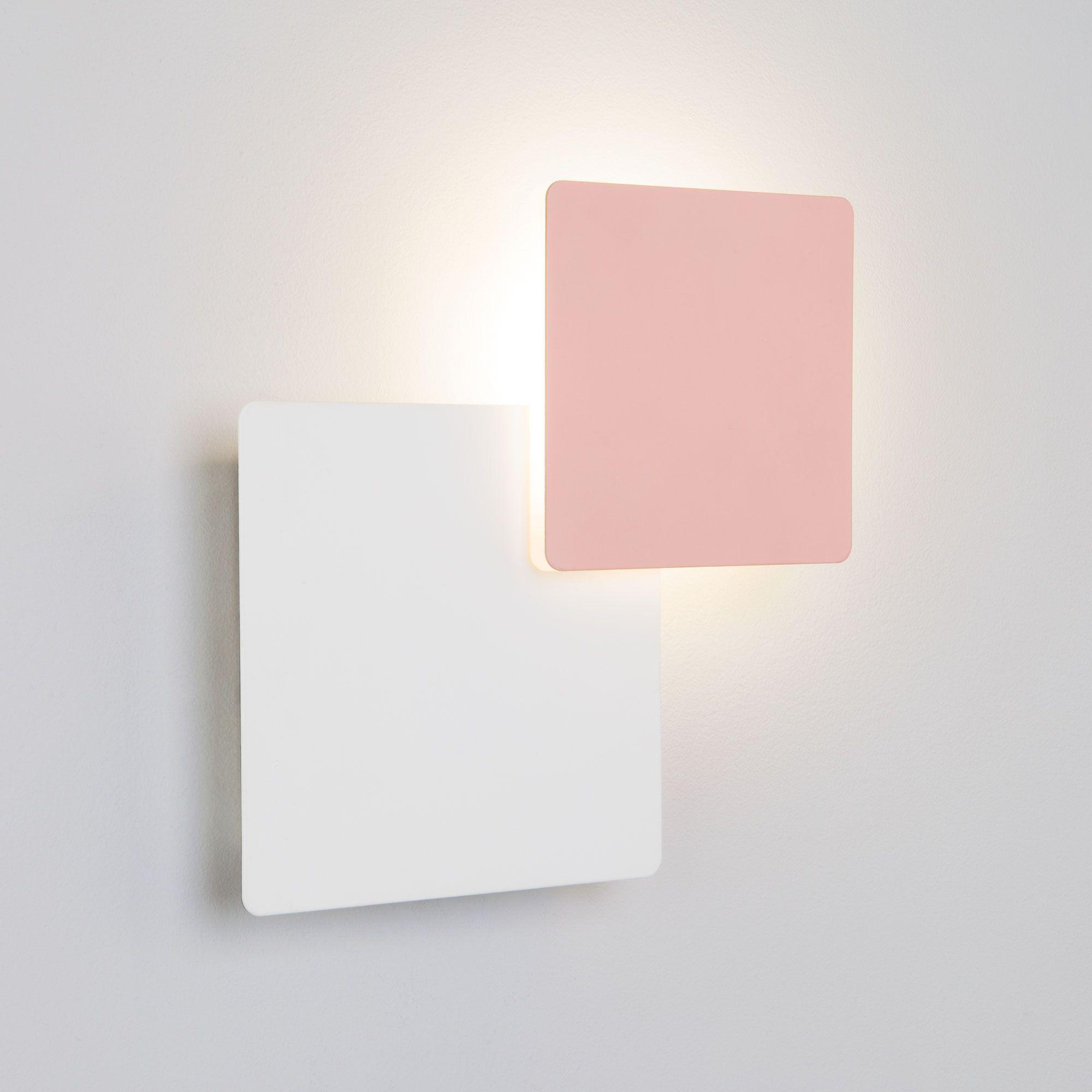 Светодиодный настенный светильник 40136/1 белый/розовый