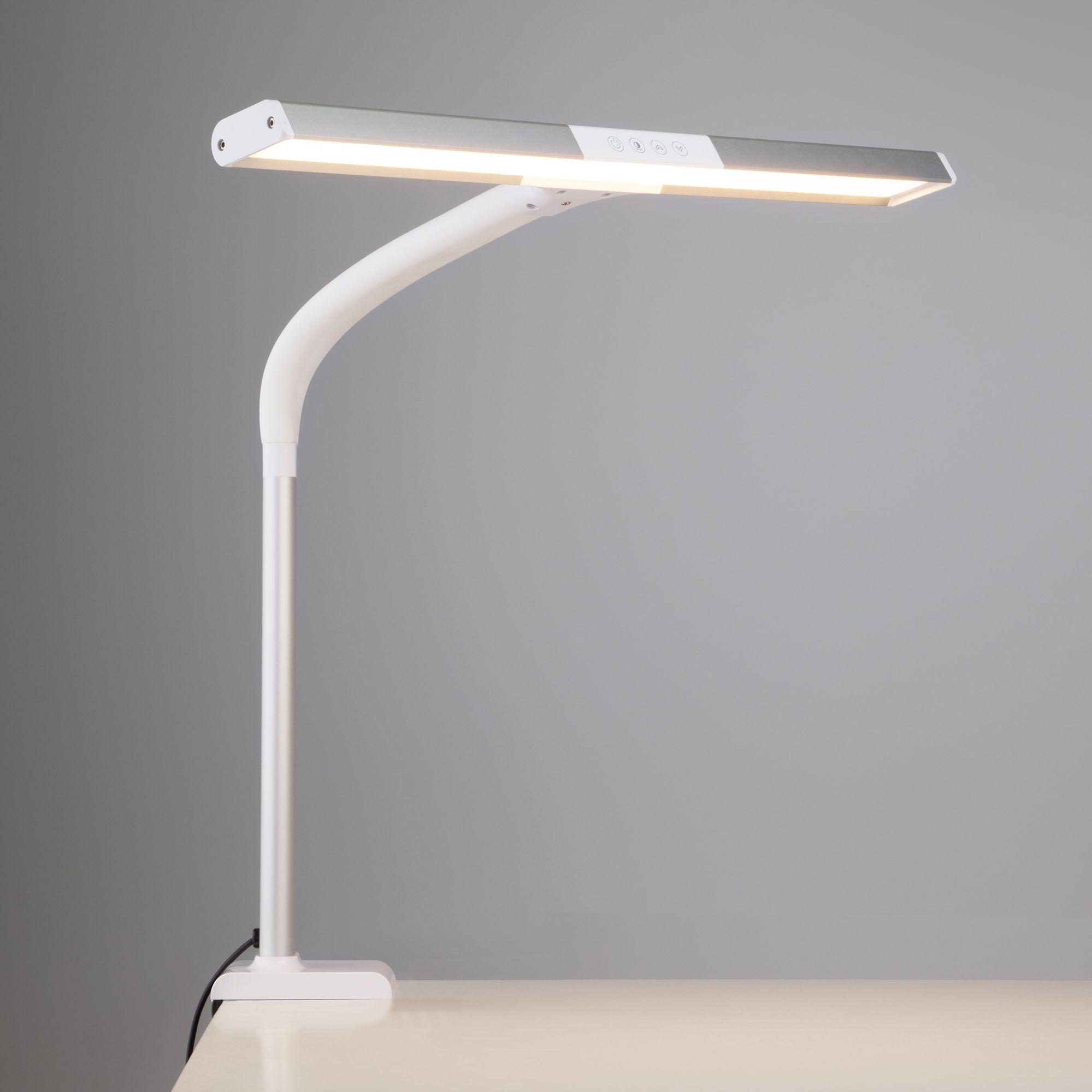 Светодиодная настольная лампа на струбцине 80500/1 белый