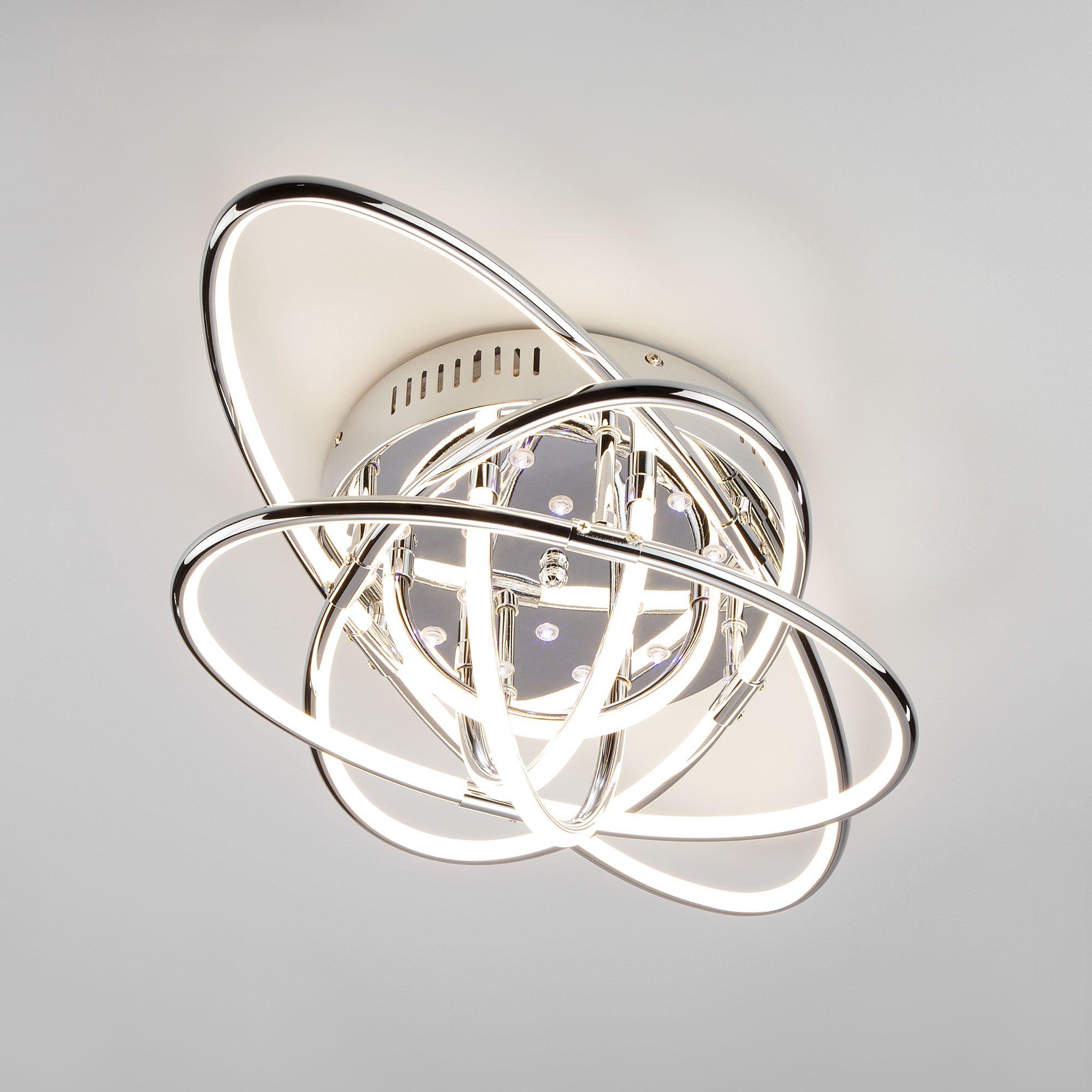 Светодиодный потолочный светильник с пультом 90132/9 хром