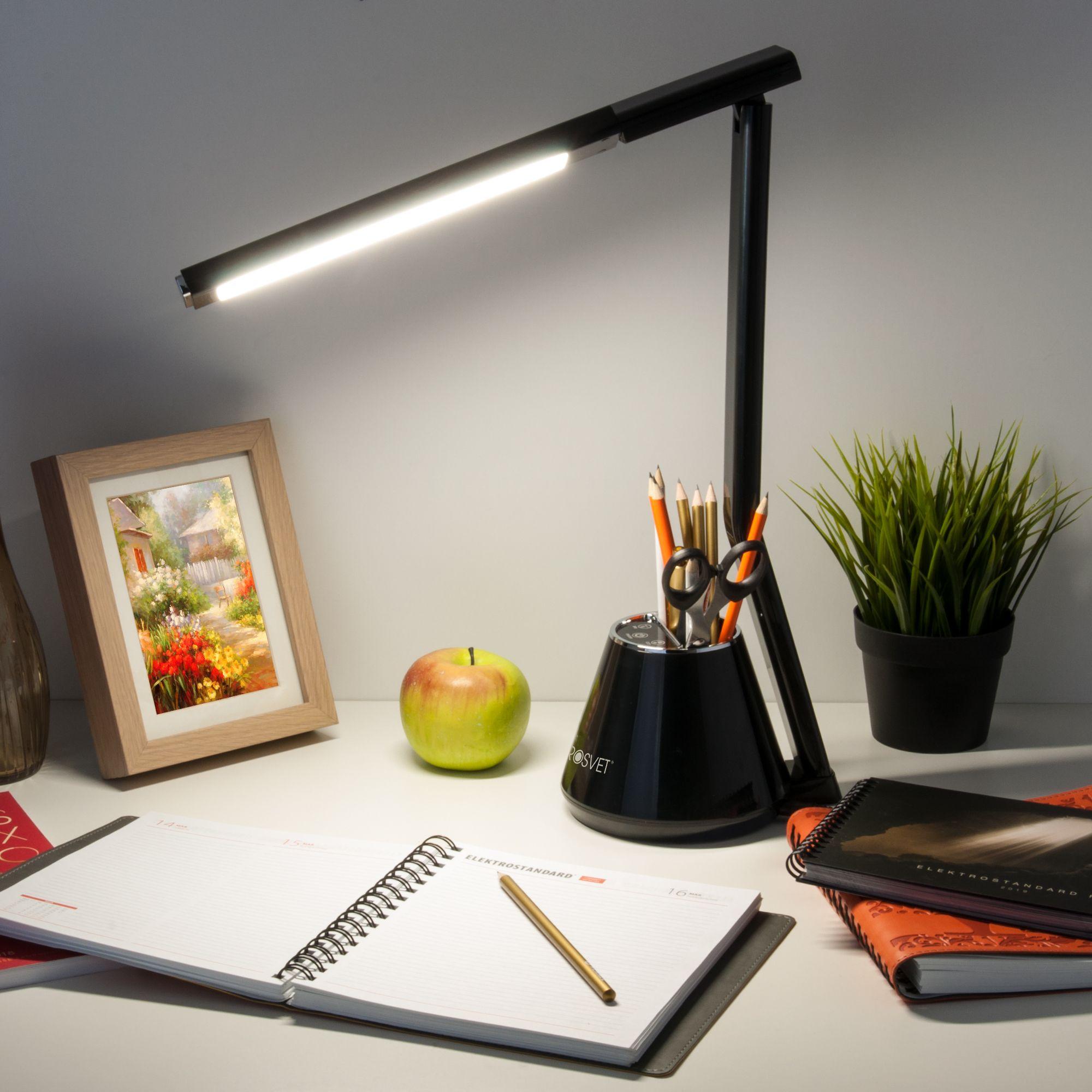Светодиодная настольная лампа 80421/1 черный