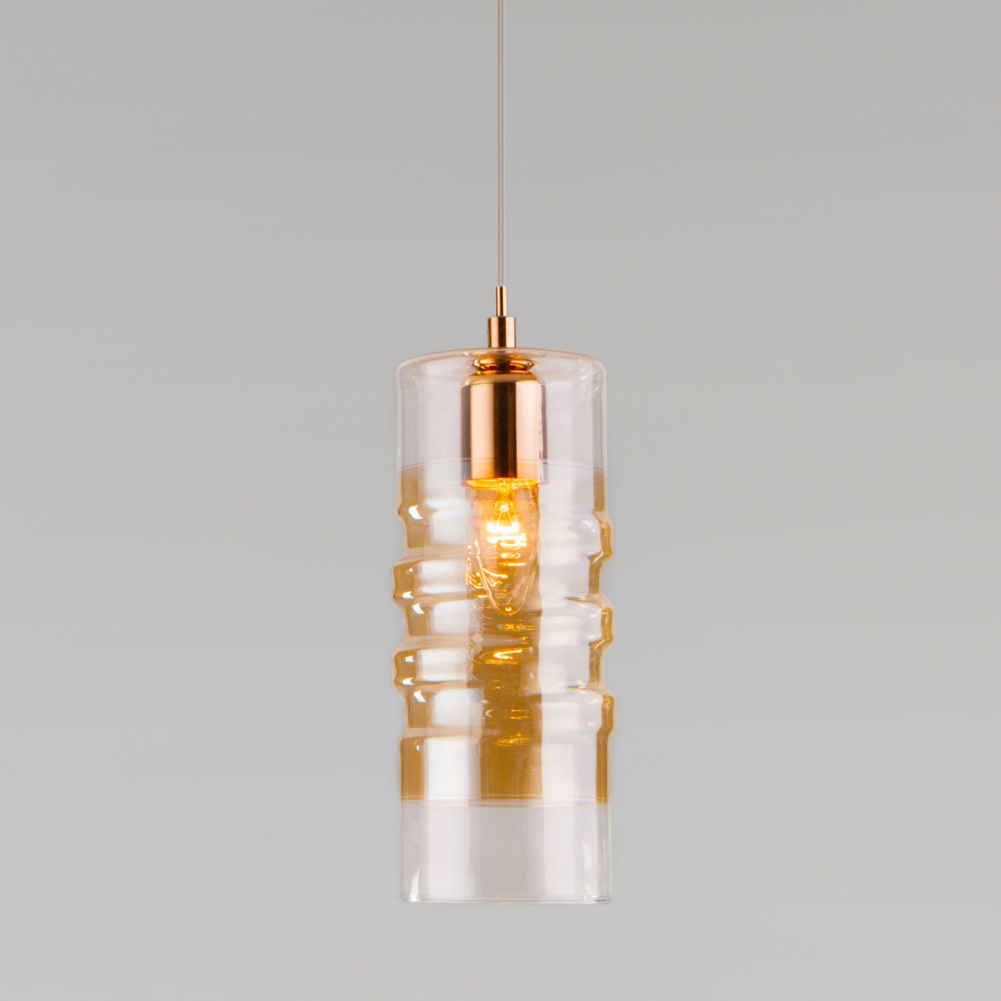 Подвесной светильник со стеклянным плафоном 50185/1 золото