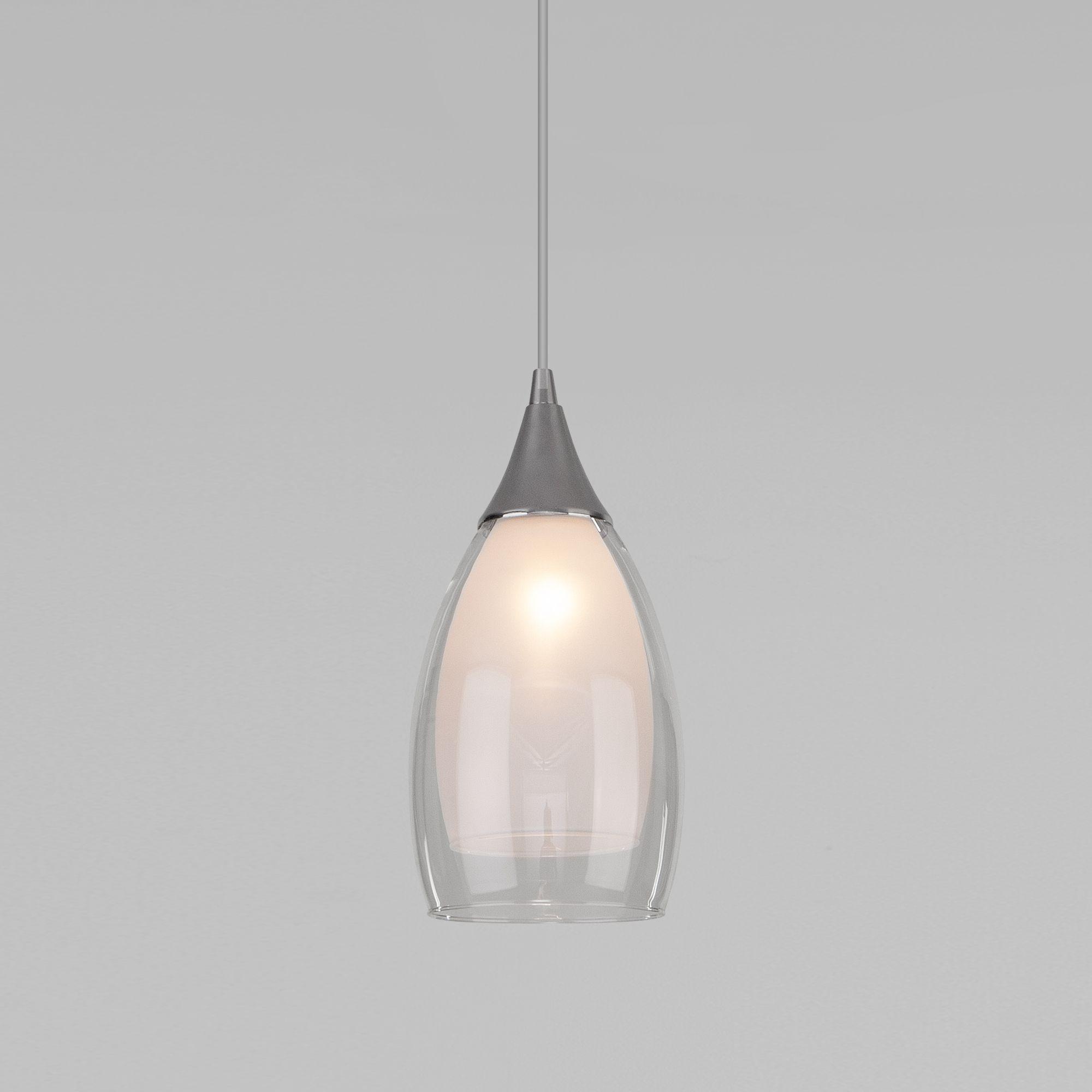Подвесной светильник со стеклянным плафоном 50085/1 хром