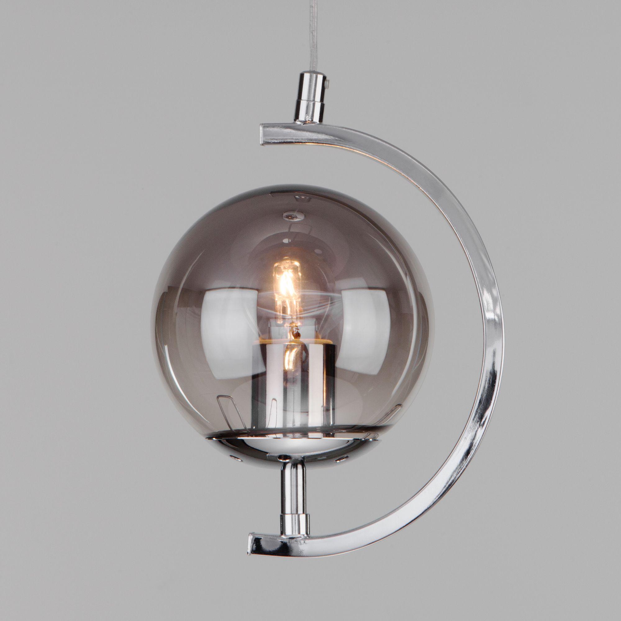 Подвесной светильник со стеклянным плафоном 50072/1 хром