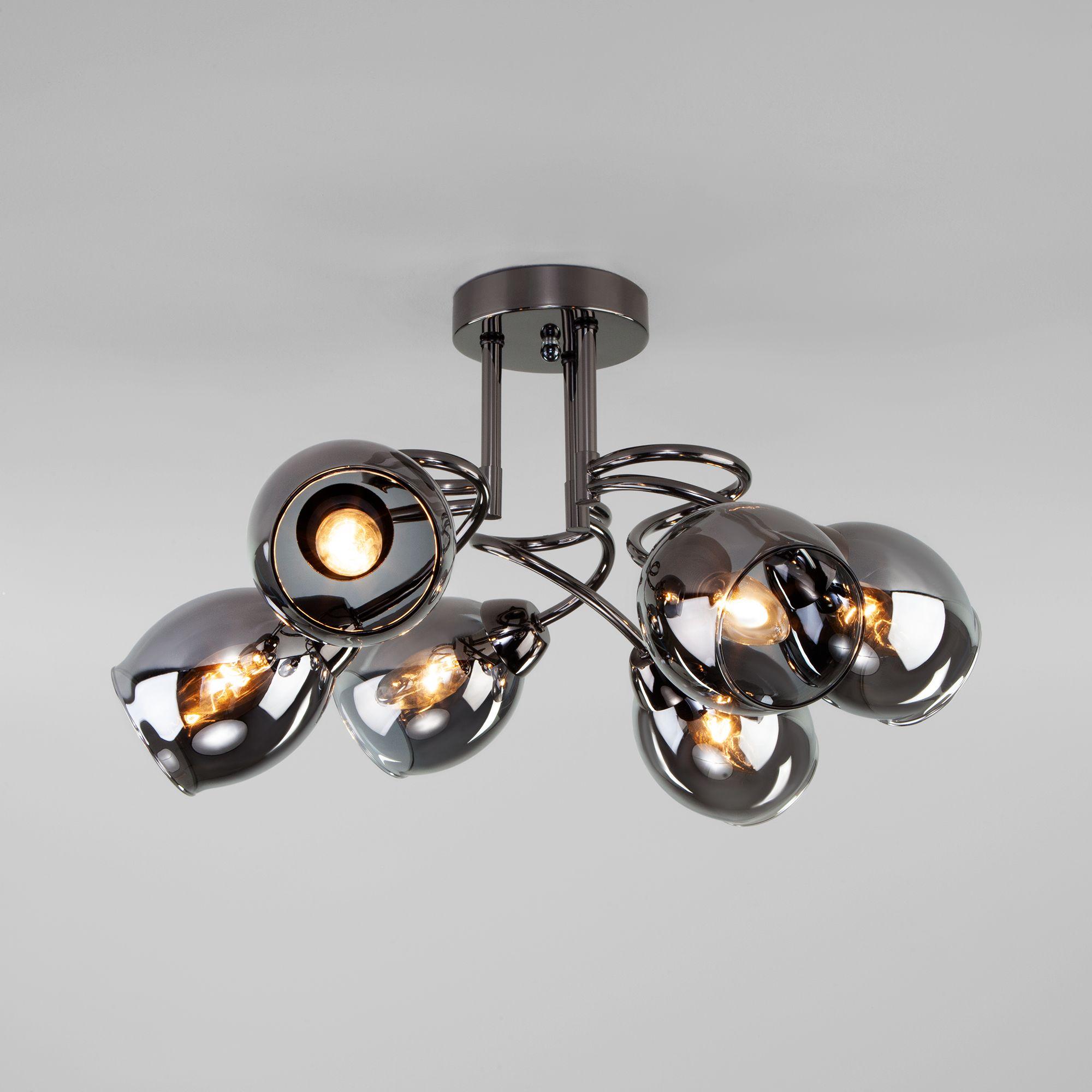 Потолочная люстра со стеклянными плафонами 30171/6 черный жемчуг