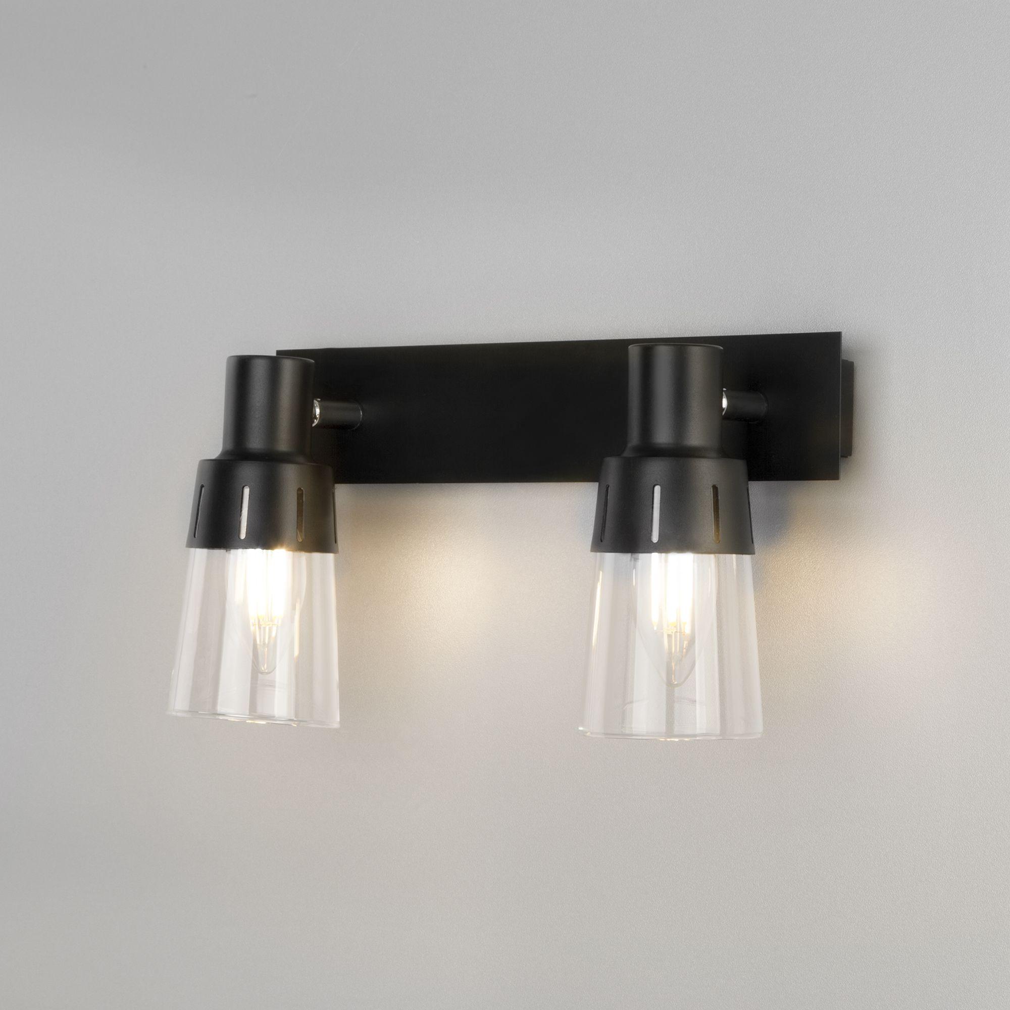 Настенный светильник с выключателем 20081/2 черный