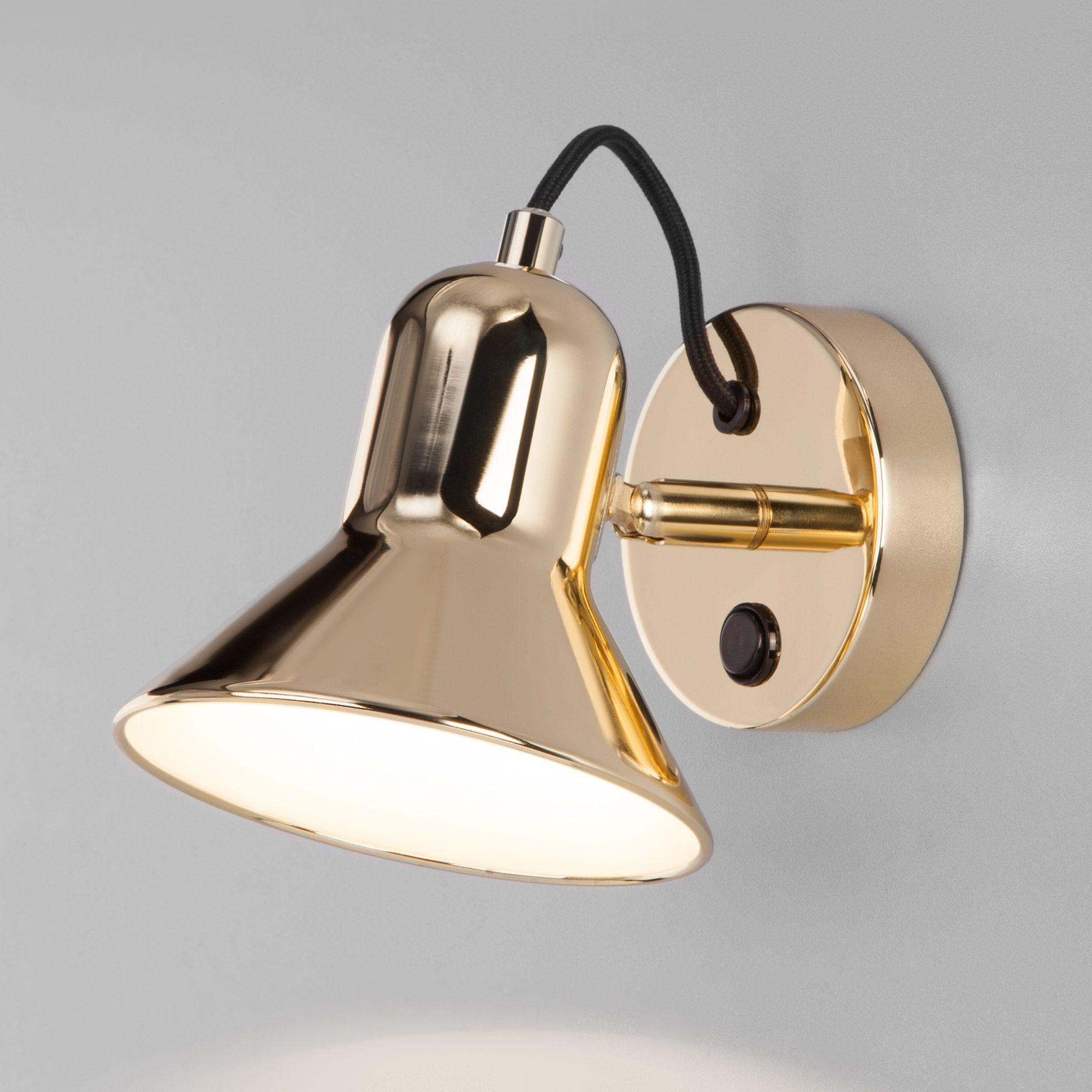 Настенный светильник с выключателем 20082/1 золото