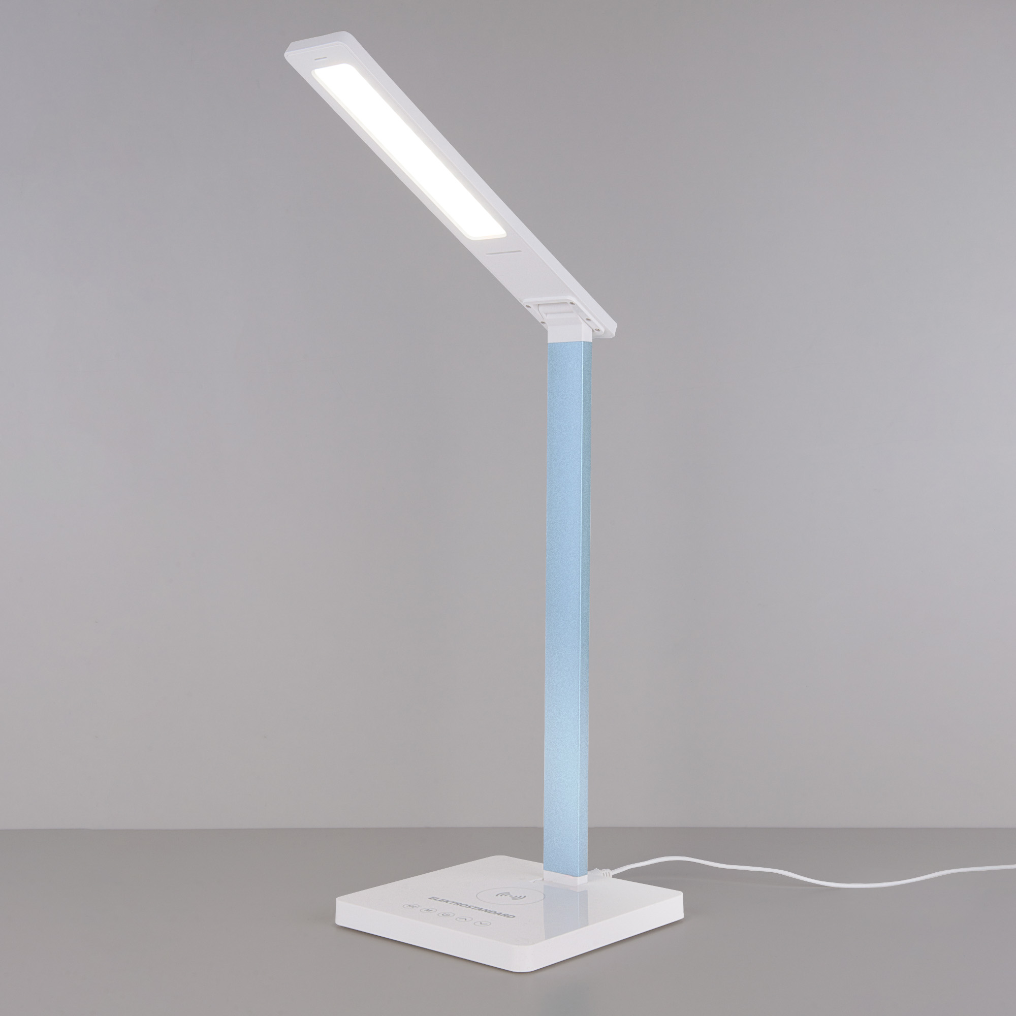 Настольная лампа с беспроводной зарядкой Lori белый/голубой (TL90510)