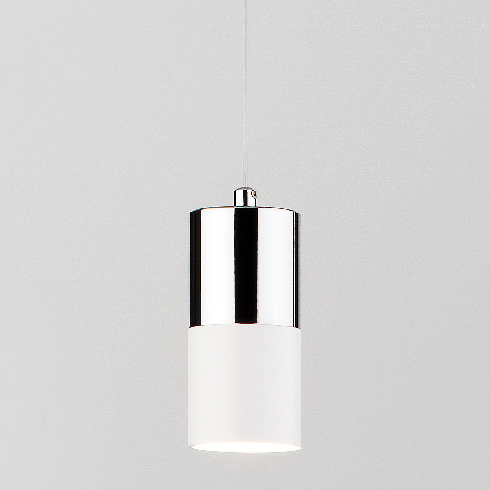 Подвесной светильник 50146/1 хром/белый