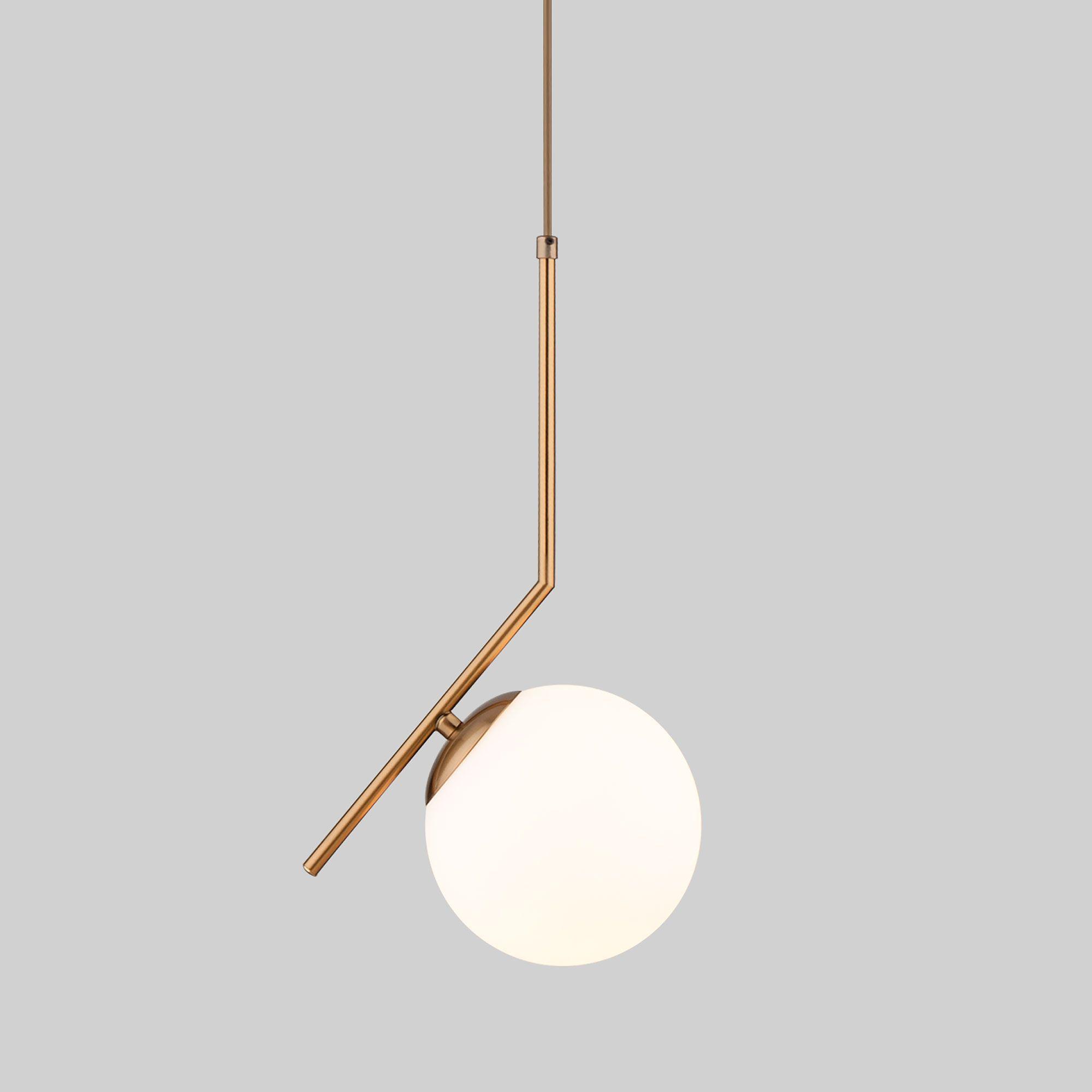 Подвесной светильник с длинным тросом 1,8м 50159/1 латунь