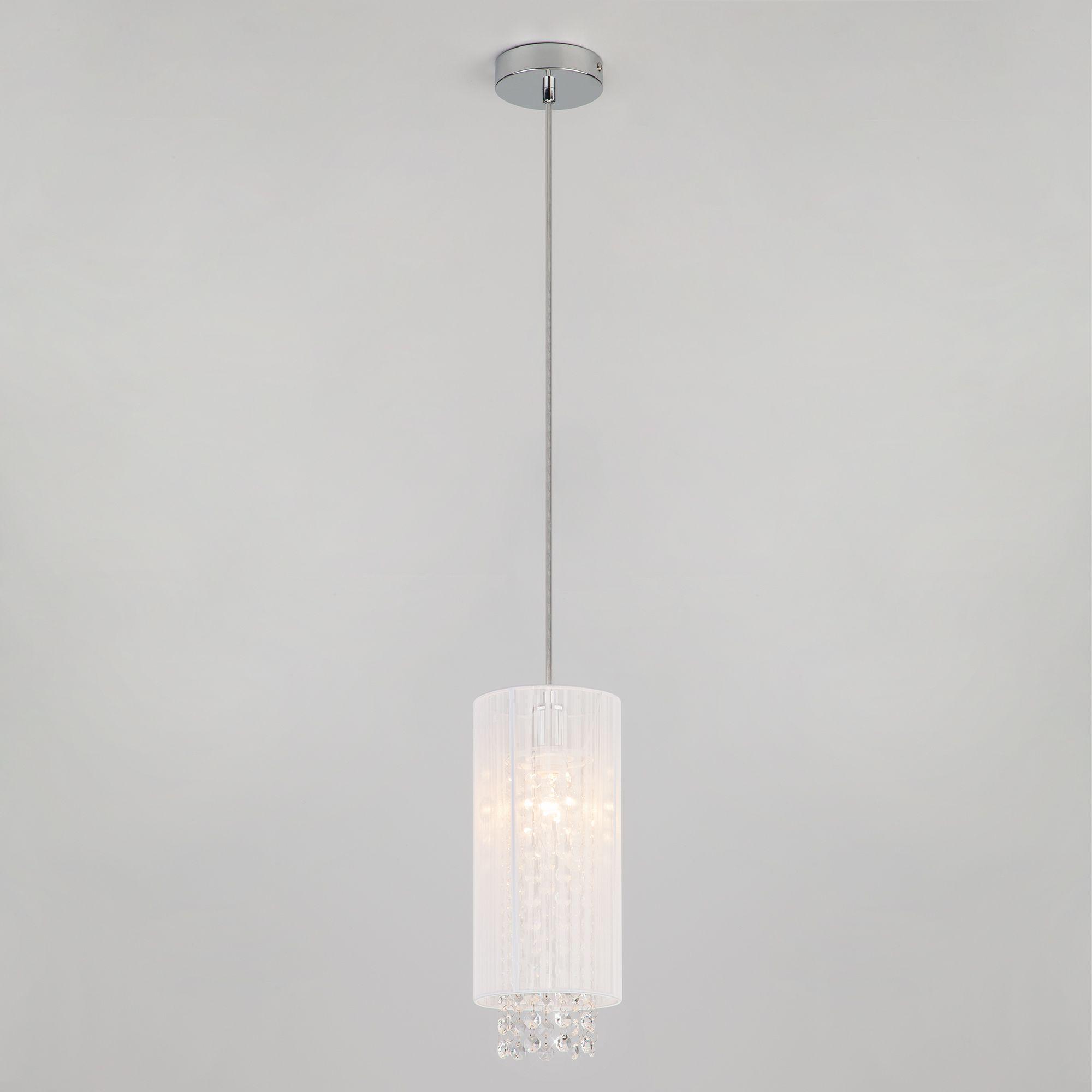 Подвесной светильник с хрусталем 1188/1 хром ...