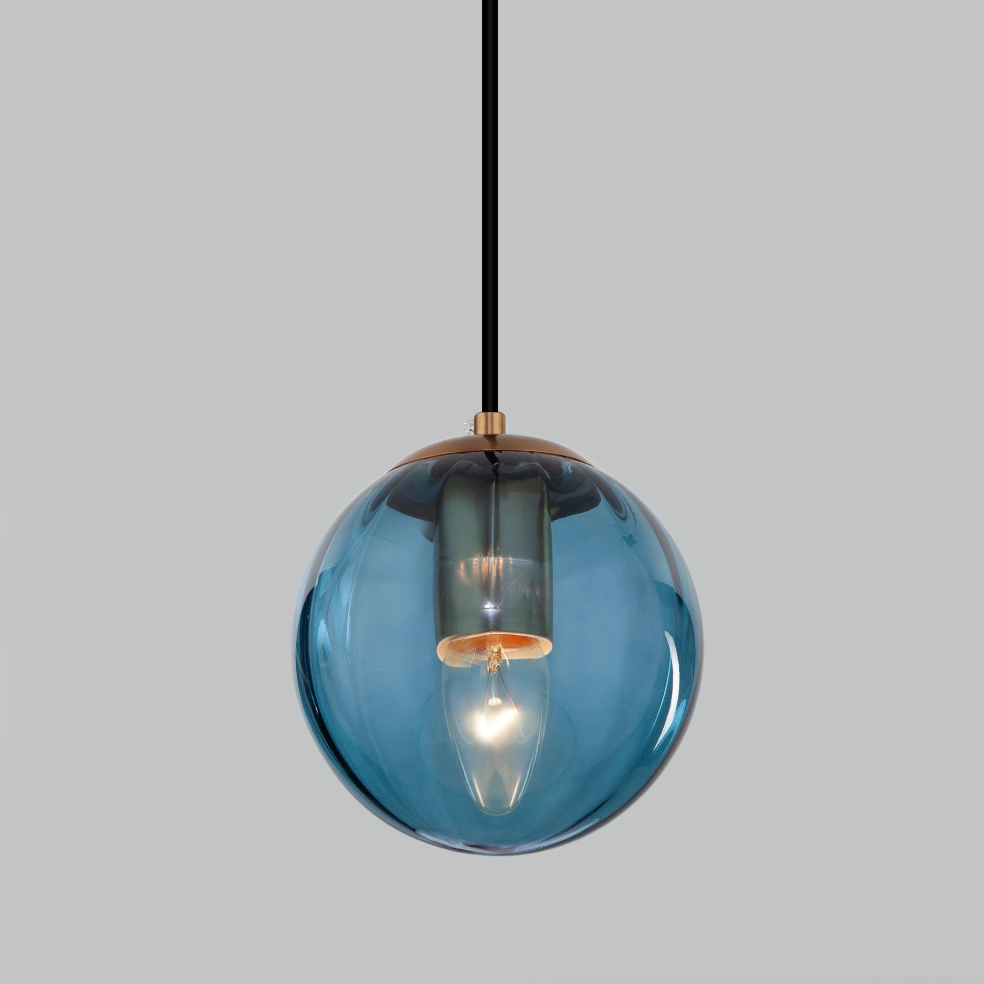 Подвесной светильник со стеклянным плафоном 50207/1 синий