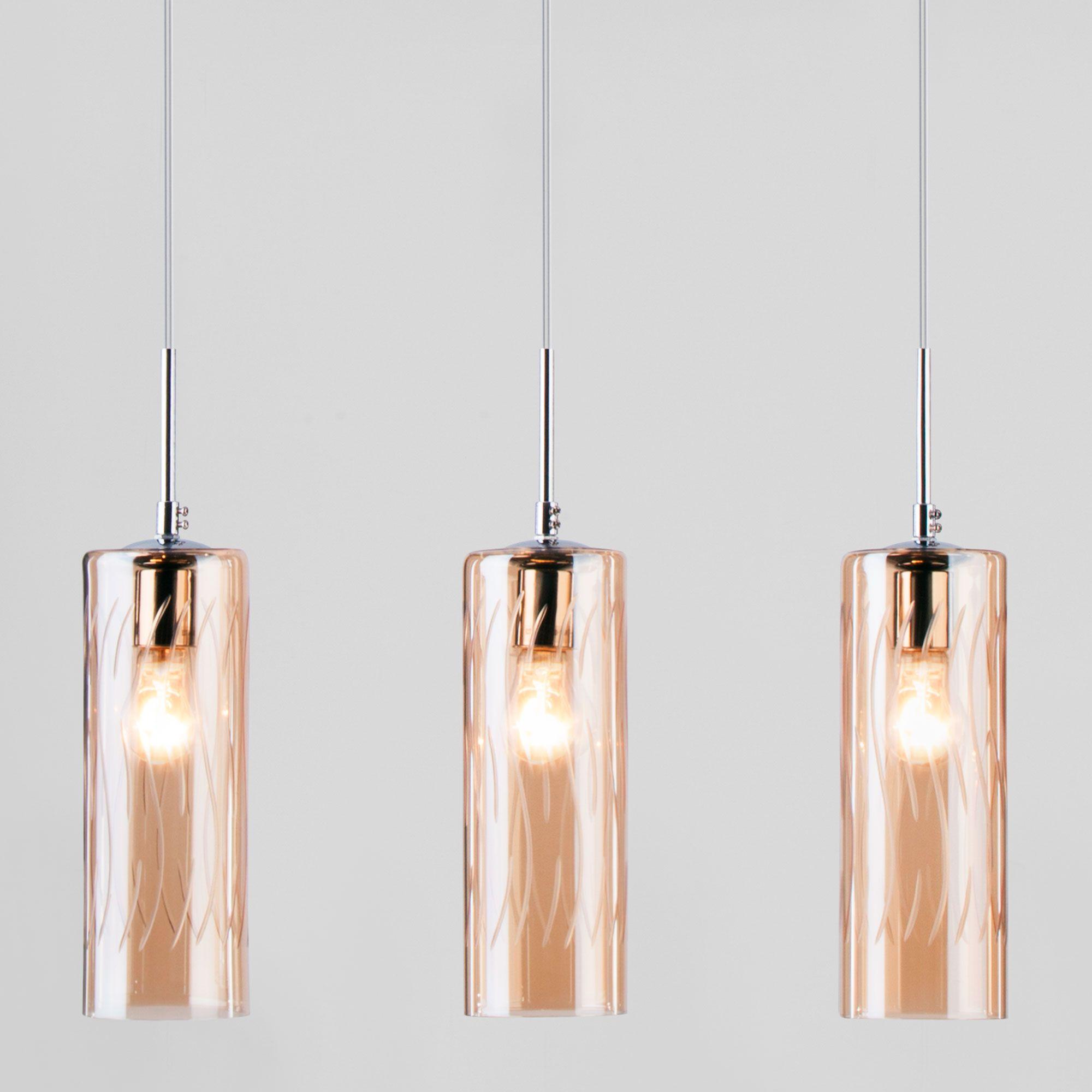 Подвесной светильник со стеклянными плафонами 50149/3