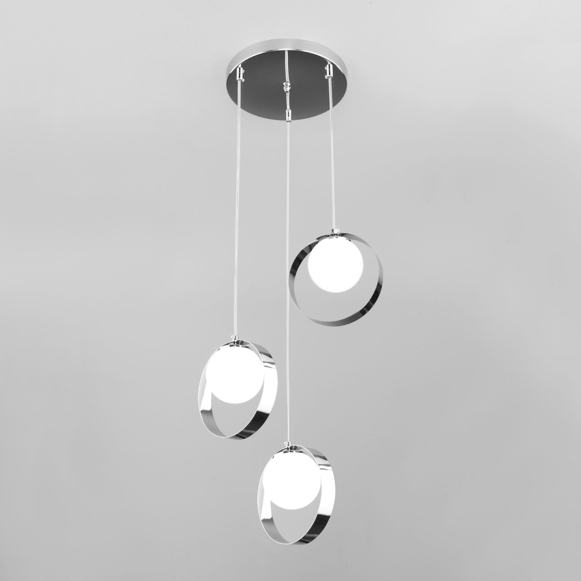Потолочный светильник со стеклянными плафонами 50205/3 хром