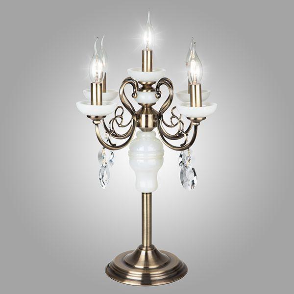 Настольная лампа 60055/5 античная бронза