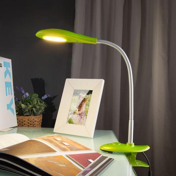 Светодиодная настольная лампа 90198/1 зеленый