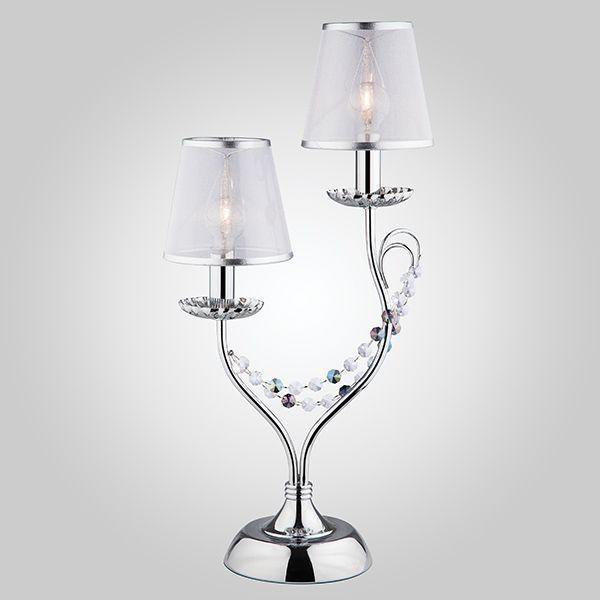 Настольная лампа 01069/2 хром/прозрачный хрусталь Strotskis