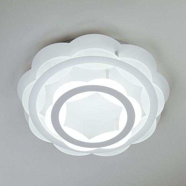 Светильник с регулировкой цветовой температуры и с пультом 90076/2 белый