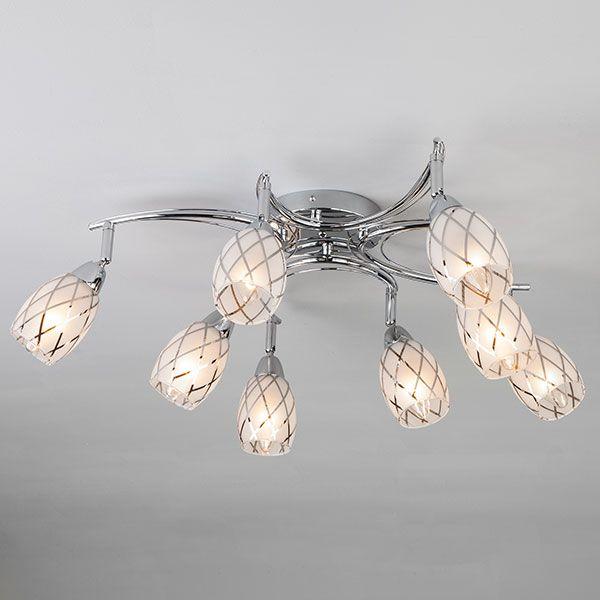 Потолочный светильник с поворотными плафонами 30128/8 хром
