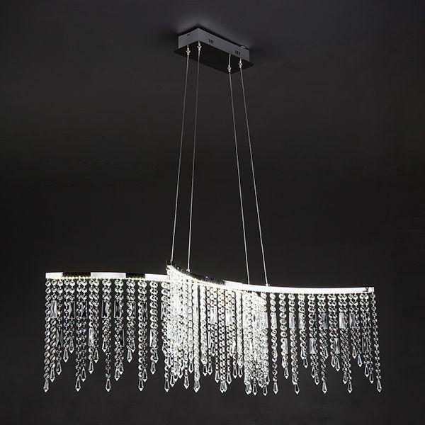 Светодиодная люстра с хрусталем 90035/2 хром