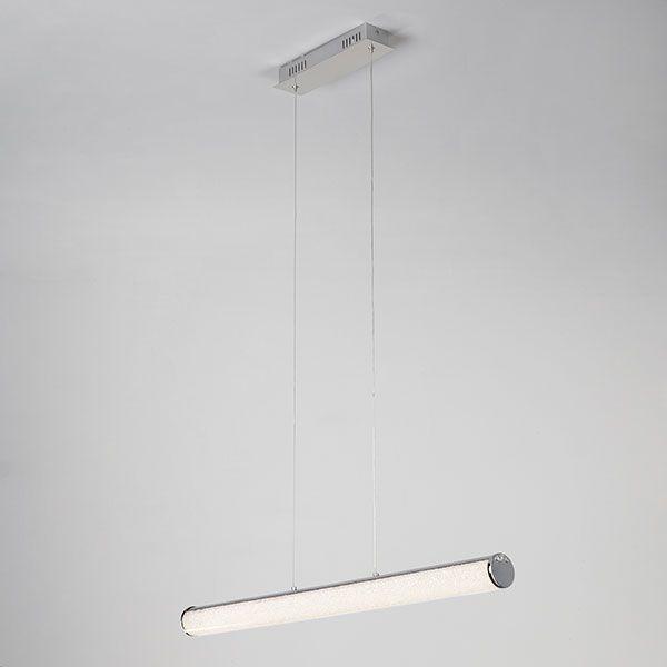 Светодиодный подвесной светильник с хрустальной крошкой 90061/1 хром