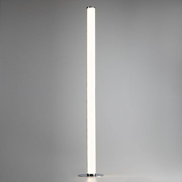 Светодиодный напольный светильник с хрустальной крошкой 80408/1 хром