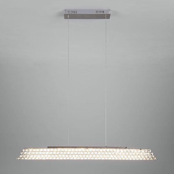 Светодиодный подвесной светильник с хрусталем 90075/1 хром