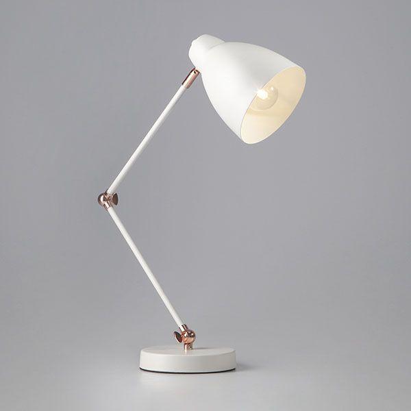 Настольная лампа в стиле лофт 01024/1 белый