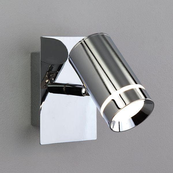 Светодиодный настенный светильник с поворотным плафоном 20064/1 хром
