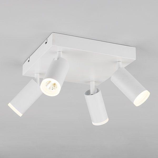 Светодиодный потолочный светильник с поворотными плафонами 20067/4 белый