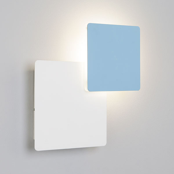 Светодиодный настенный светильник 40136/1 белый/голубой