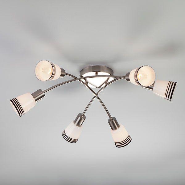 Потолочный светильник 30131/6 сатин-никель