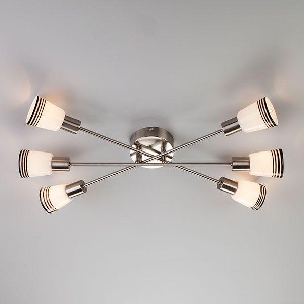 Потолочный светильник 30132/6 сатин-никель