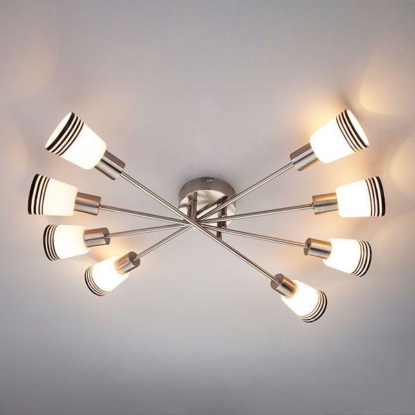 Потолочный светильник 30132/8 сатин-никель