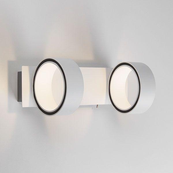Светодиодный настенный светильник с поворотными плафонами 20068/2 LED белый