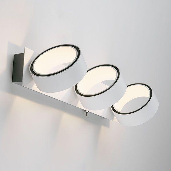 Светодиодный настенный светильник с поворотными плафонами 20068/3 LED белый