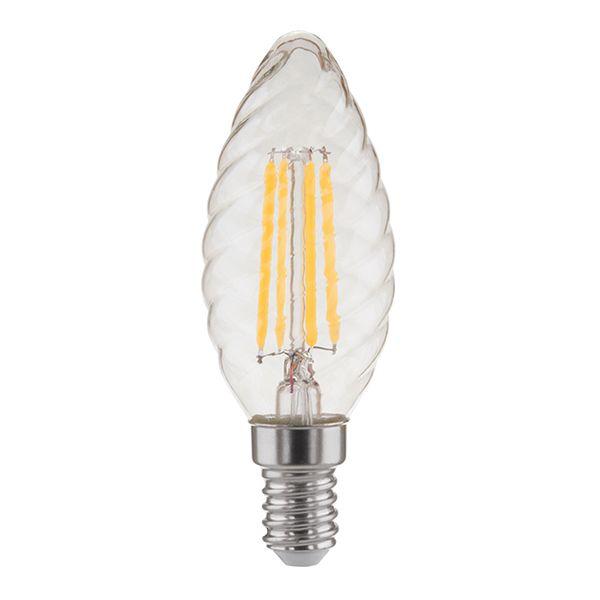Филаментная лампа Свеча витая F 7W 3300K E14