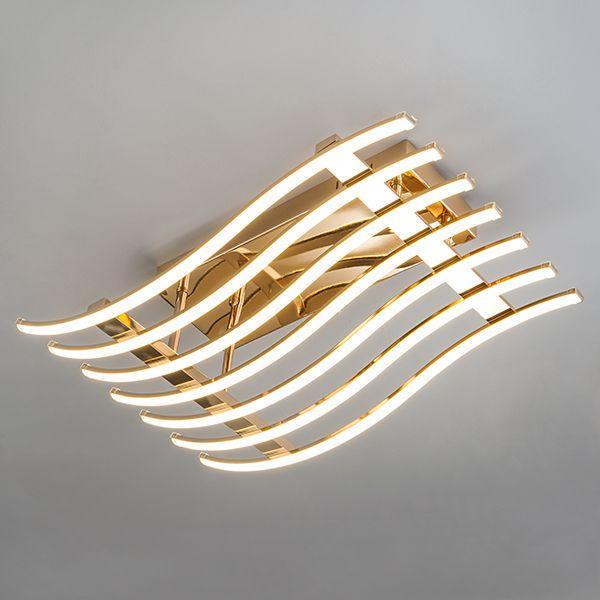 Светодиодный потолочный светильник 90091/7 золото