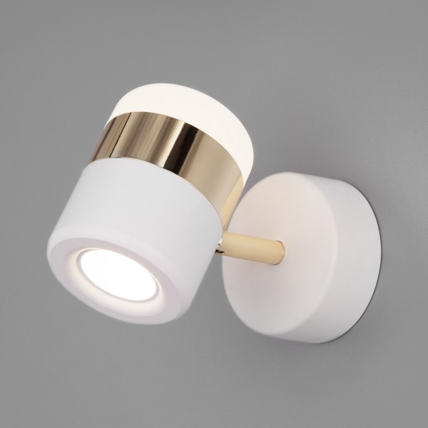 Настенный светодиодный светильник 20165/1 LED золото/белый
