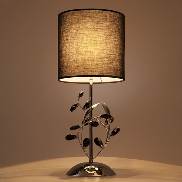 Настольная лампа с абажуром 01017/1 хром (фото 2)