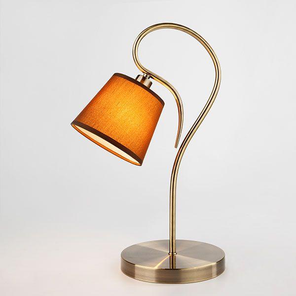 Настольная лампа с абажуром 01047/1 античная бронза