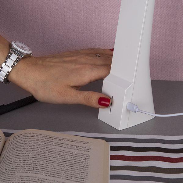 Светодиодная настольная лампа Desk белый/серебряный (TL90450) (фото 5)