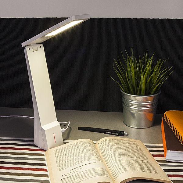 Светодиодная настольная лампа Desk белый/серебряный (TL90450) (фото 6)