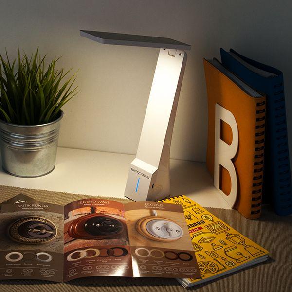 Светодиодная настольная лампа Desk белый/серебряный (TL90450) (фото 11)