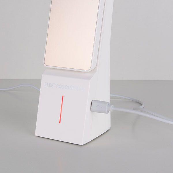 Светодиодная настольная лампа Desk белый/золотой (TL90450) (фото 4)